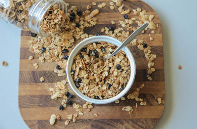 Blueberry Almond Granola (Vegan)