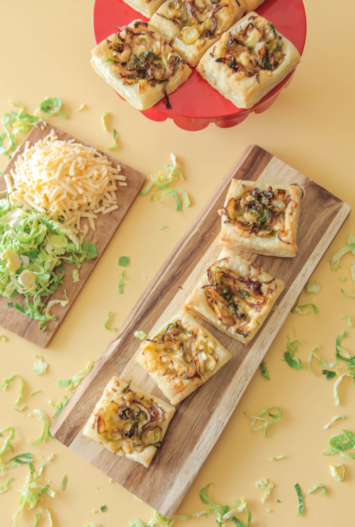 Brussels Sprouts & Caramelized Onion Puffs
