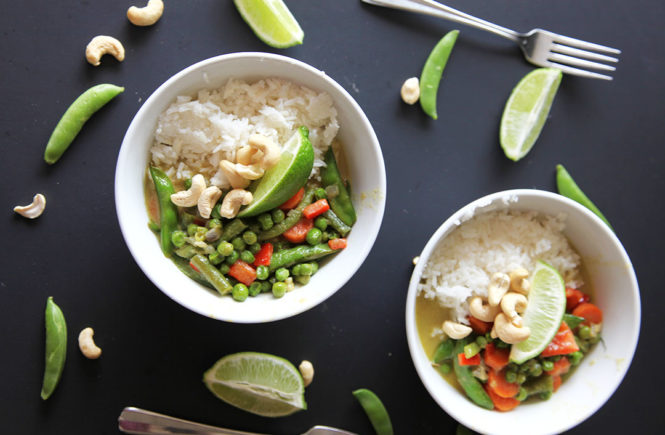 Vegan Green Coconut Curry
