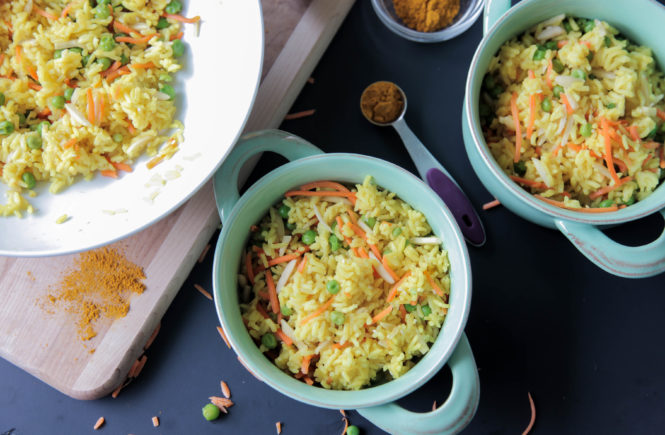 Curried Rice (Vegan + Gluten Free)